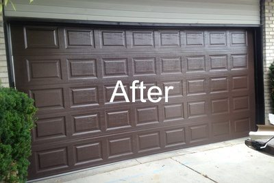 New Brown Garage Door