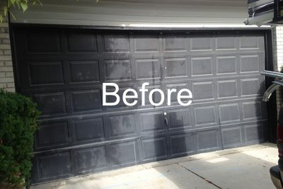 Old Black Garage Door